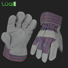 Cow split leather working gloves hand gloves