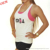 Wholesale Custom Womens Cotton Bodybuliding Gym Singlets Ladies Racerback Muscle Training Stringer Tank Top