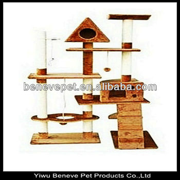 luxury big cat tree with cat house and stairs