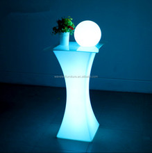 commercial portable color changing led high top cocktail bar table