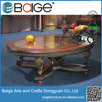 C-0092 antique hand carved coffee table hand carved teak coffee table