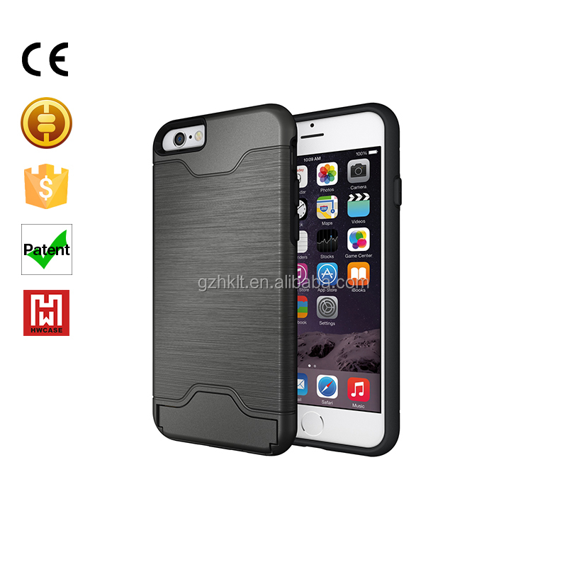 "New Ultra-thin Luxury Metal Aluminum Phone Case for iPhone 6 / 4.7"" Frame Cover With Holder Stand for iphone 6 plus 5.5"""