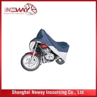 China factory price excellent quality rain cover polyester motorcycle cover