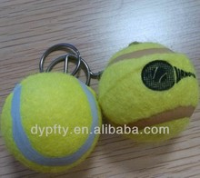 felt tennis ball with keychain for promotional