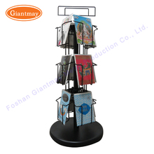Counter top metal wire rotating greeting cards display spinner stand