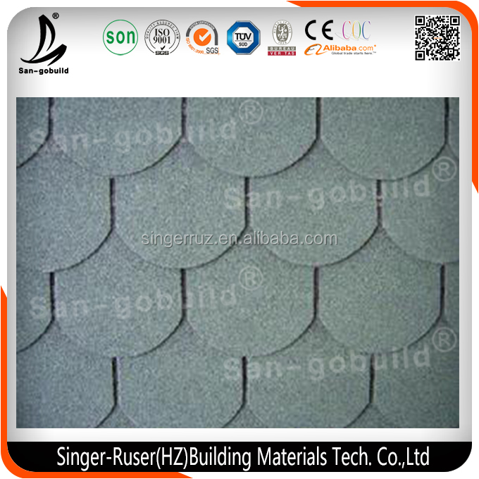 Asian Style High Quality Building Material Asphalt Shingle/Roof tiles for House Construction