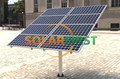 100KW solar PV bracket structure for ground mounting system Aluminium Alloy HGD with high efficiency