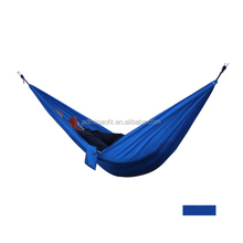 2017 Hot-selling Nylon Hammock/ Travel Camping ripstop Nylon Fabric Hammock