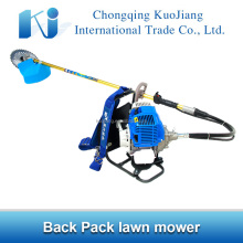 Farming tools back pack gasoline lawn mower with stainless steel blade