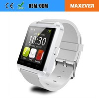 CE ROHS Bluetooth U8 Smart Wristband Watch With 1.44' TFT Screen