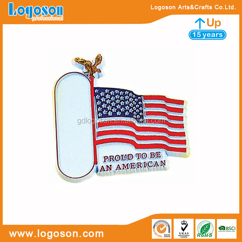 Decorative Memorial Gift Patriotism Theme Souvenirs Proud to be an American USA Flag Magnet Rubber Fridge Magnets