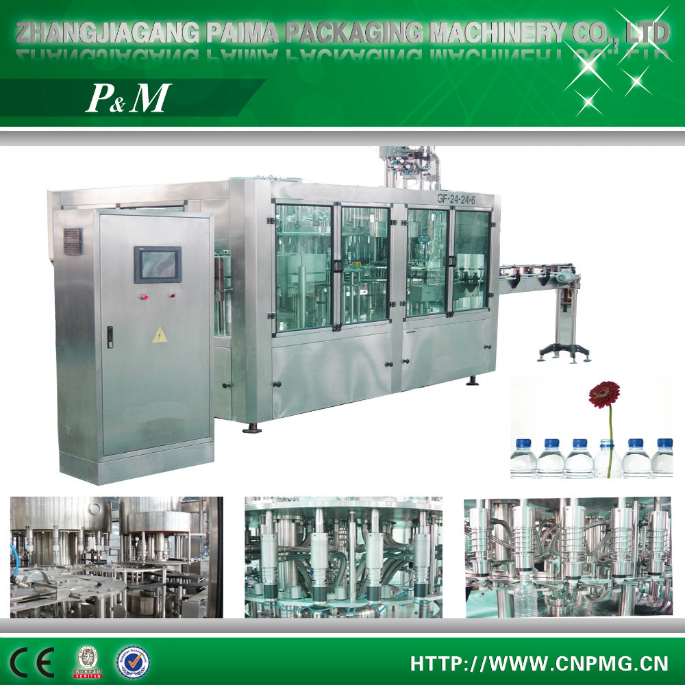 China Automatic drinking pure water filling machine/ bottle mineral water filling line/small water filling plant