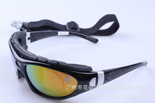Outdoor Cycling Goggles Anti-shock Glasses PC Sport Glass Lens