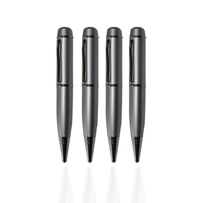 metal pen shape usb flash drive wholesale laser or silk printing for free