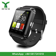 Factory supply cheap touch screen smart watch U8 with BT dial, BT sync, anti-lost, altimeter, pedometer, alarm clock,
