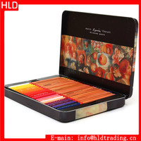 Top Quality 3100 Metal Box 48 Oil Base Marco Renoir Fine Art Colored Drawing Pencils Set