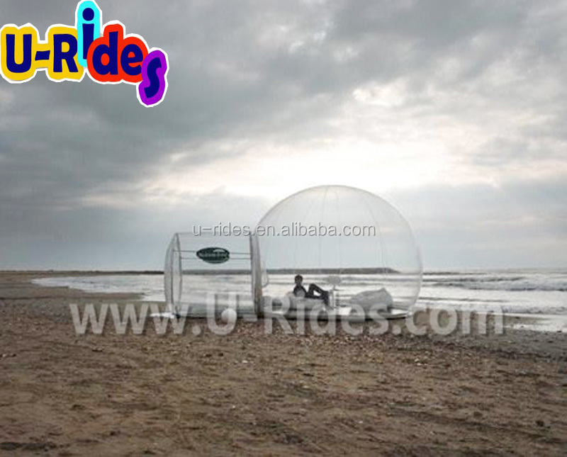 PVC Tarpaulin Bubble Clear Beach Inflatable Tent For Outdoor
