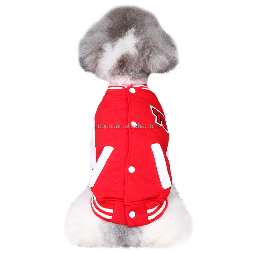 Pet sale sports baseball coat dog coats and jackets