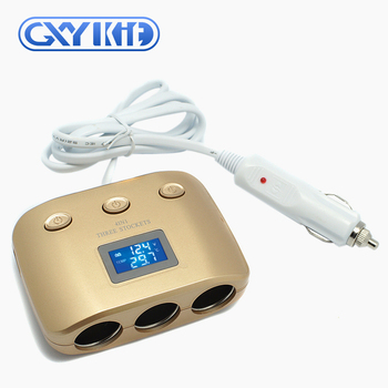 GXYKIT High Quality 4in1 dual usb car charger with LED screen display in-car accessories mobile phone tablet charger