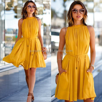 8ccd8a549334 Fashion Women Summer Casual Sleeveless Evening Party Beach Dress Short Mini  Dress