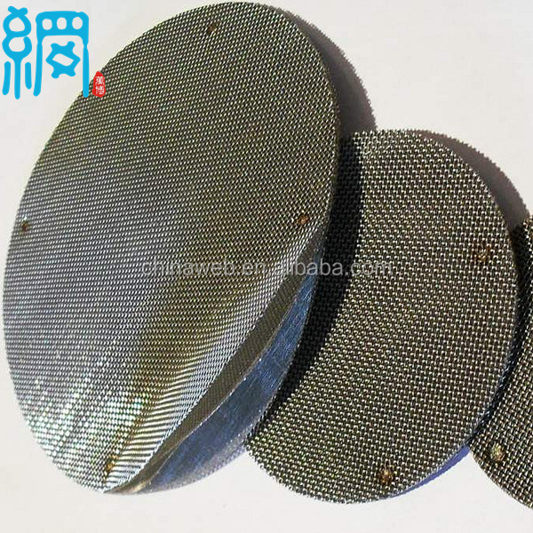 Woven Wire Cloth Discs for Screen Changer (ISO9001:2008 Factory)
