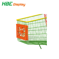 shopping trolley front advertising boards for supermarkets