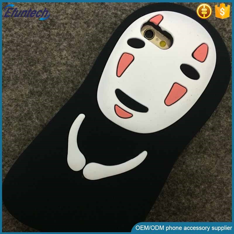 High quality Halloween gift cartoon ghost silicone mobile phone case for iphone 6s plus