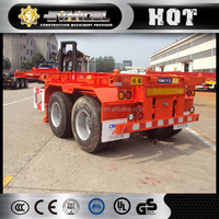 CIMC 3 axles flatbed semi trailer / 40t container tipper truck trailer for sale