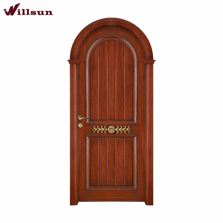 Strong quality wooden arched french doors finished surface for Purchase french doors