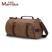 Marroke 2018 Classical Design New Fashion Vintage Canvas Waterproof Travel Duffel Bag