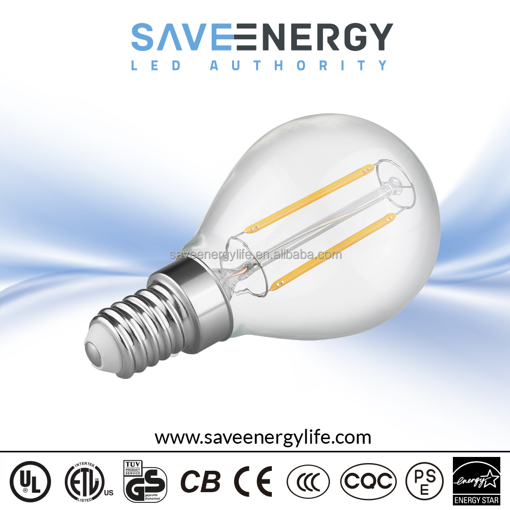 led filament bulb light 2W, dual filament led replacement bulb e14, Led Filament Bulb Dimmable
