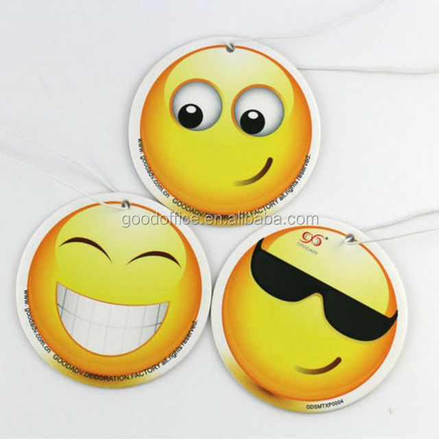 New type Pure and fresh air products smiling face paper air freshener