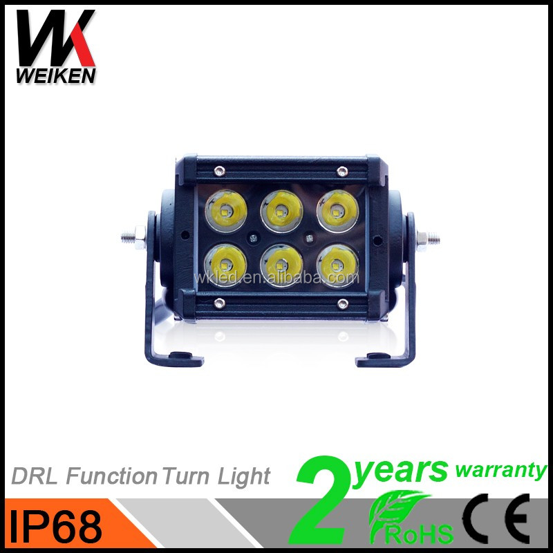 IP68 Crees 3w Single Row 18w 12v Led Light Bar Jeep 4x4 Offroad Automobiles Motorcycles LED Lamp