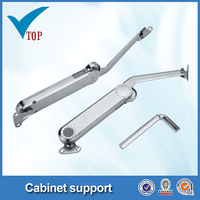 Soft down hydraulic cabinet support