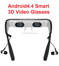 Manufacturer direct sales 98-inch Mobile Theater Virtual 3D Android4.4 bluetooth Video Glasses with on-line movie