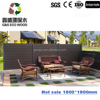2016 good quality waterproof durable with cheap price garden products / wpc fence wood railing