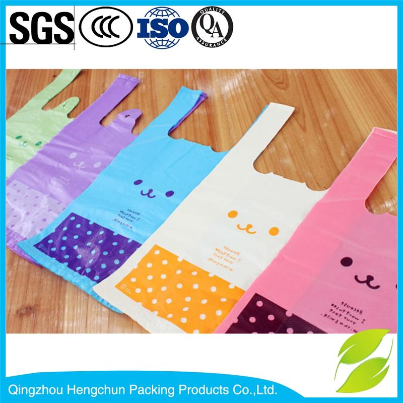 G20 usage plastic vest t-shirt shopping bag in rolls