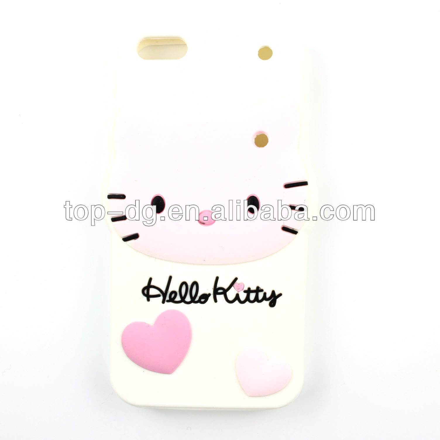 hello kitty 3D animal silicone phone case for iphone 5