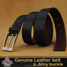 genuine cow hide leather belts with35mm brush gun or nickle color pin buckle trousers
