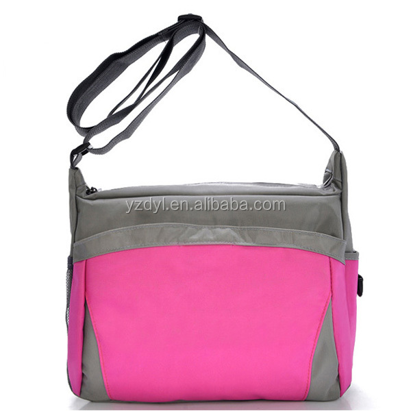 Polyester nylon crossbody single shoulder women laptop messemger bag