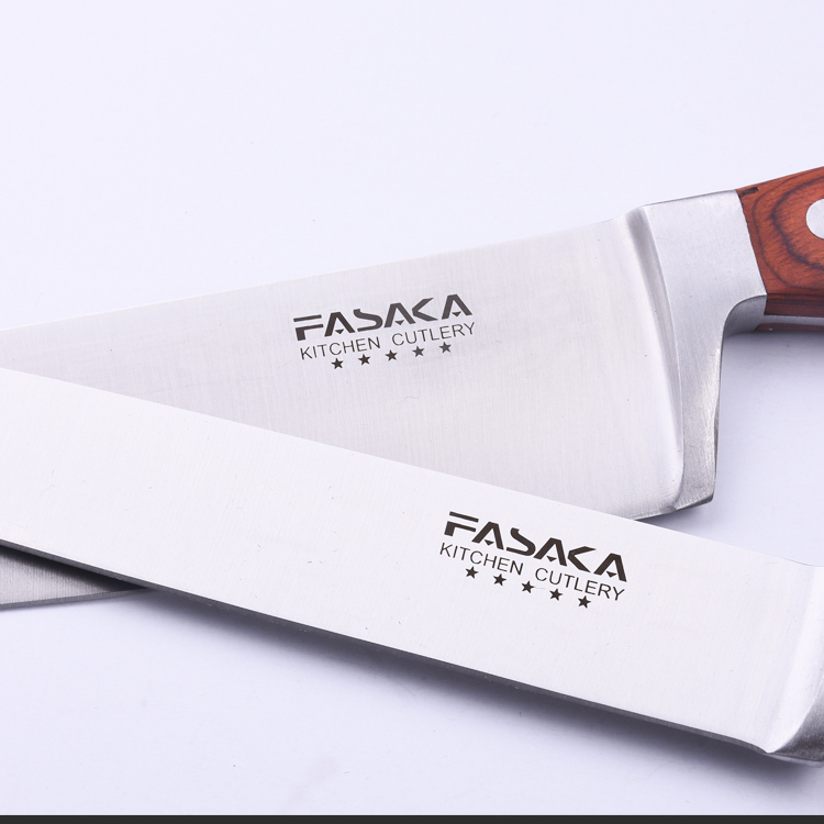 Professional Color Wood Handle 8 inch Stainless Steel Chef Kitchen Knife