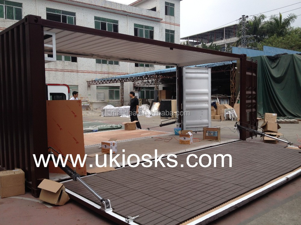Custom 20ft shipping container cafe container shop