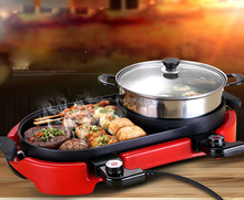 2015 the lasted professional electric hot pot grill with CE HJ-BBQ002