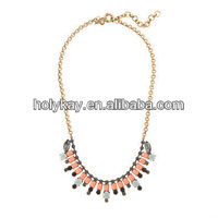 Wholesale 2013 fashion art deco jewelry on express alibaba, lovely acrylic crystal baguette necklace for women