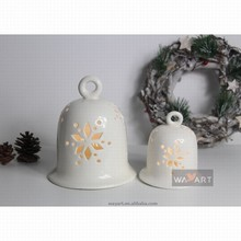 Graceful Carving Christmas Oranment Bells LED Lighted Bells