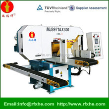 hydraulic cylinder band saw machine in wood cutting MJ3971AX300