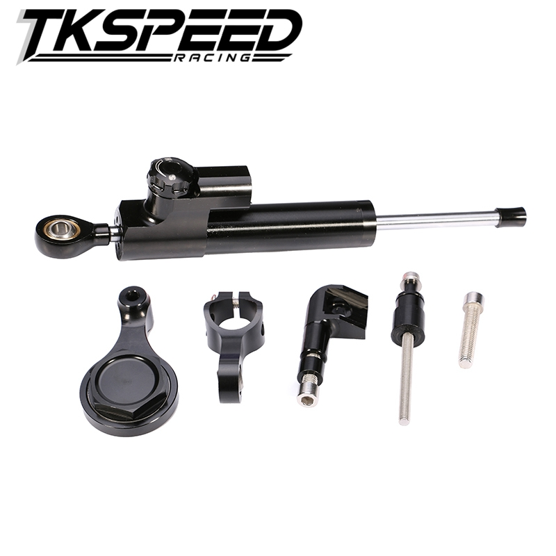 aluminum Steering Damper Set for YAMAHA YZF R6 06 <strong>07</strong> 08 09 10 11 12 13 14 <strong>w</strong>/ bracket kits