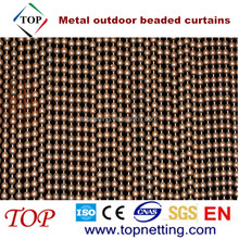 Metal outdoor beaded curtains for external