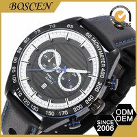china suppliers PVD black stainless steel case quemex quartz wristwatches for men