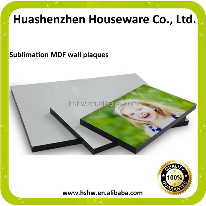 sublimation wood 15mm MDF plaque blank direct factory